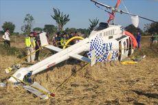 5 Fakta Helikopter Jatuh di Sawah, Sempat Hilang Kontak hingga Warga Jauh-jauh Datang untuk Selfie