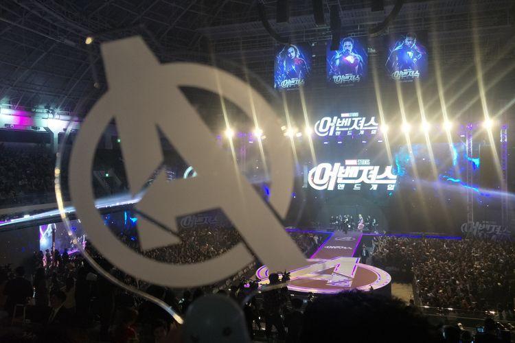 Lightstick fan event Avengers: Endgame yang digelar di Jang Chung Arena, Seoul, Korea Selatan, Senin (15/4/2019) malam waktu setempat.