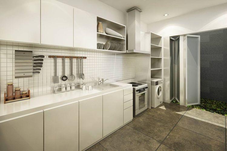 Dapur minimalis Scandinavian House di Tangerang karya Ruang Komunal