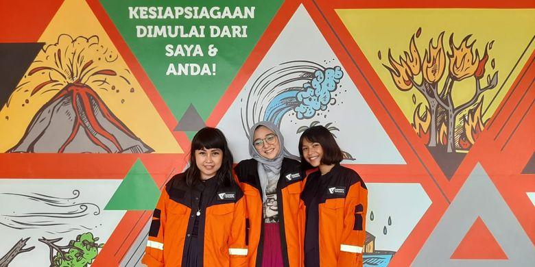 (Kiri-kanan) Meda Kawu, Chiki Fawzi dan Vira Talisa, kolaborasi bareng dengan Dompet Dhuafa untuk hadirkan Safe School sebagai upaya #MelawanAsap