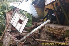 2 Rumah Warga Rusak Tergerus Longsor di Bantaran Sungai Lusi Blora