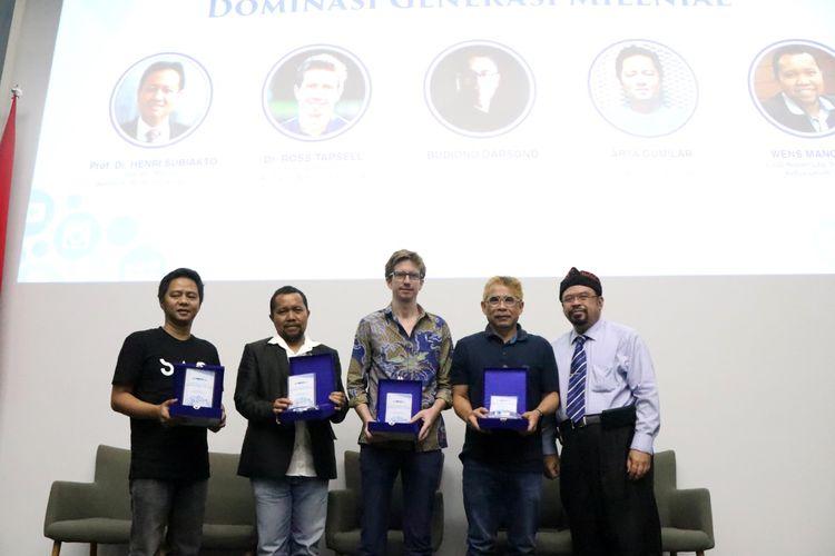 Isu dominasi generasi milenial di era digital diangkat UMN dalam konferensi ilmiah bertajuk Comnews 2019: Tutur Digital dalam Dominasi Generasi Milenial, di Lecture Hall UMN, Tangerang Selatan (13/3/2019).