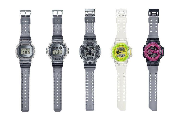 Arloji G-Shock dengan desain transparan