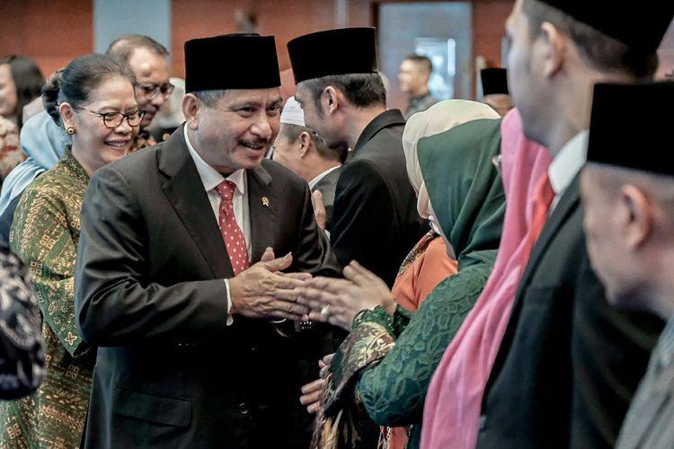 Menteri Pariwisata saat melantik beberapa pejabat di lingkup Kementerian Pariwisata di Balairung Soesilo Soedarman, Kantor Kemenpar, Selasa (14/5/2019).