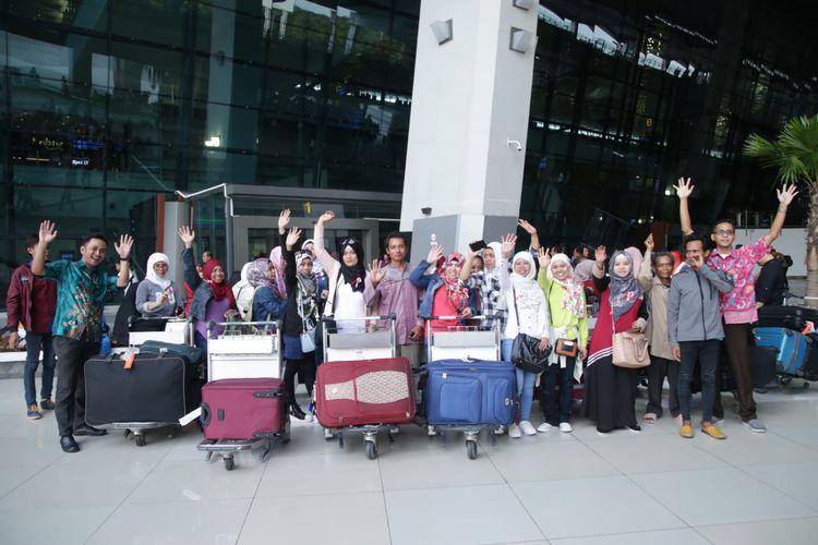 Sebanyak 50 Pekerja Migran Indonesia (PMI) yang termasuk Bermasalah (PMI-B) dipulangkan dari Yordania. Pemulangan (repatriasi) ini dilakukan KBRI Amman, Jumat (17/5/2019).
