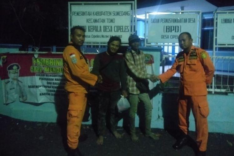 Tim rescue Basarnas Bandung menemukan kedua offroader asal Sumedang, Jawa Barat yang dilaporkan tersesat, Selasa (12/3/2019) malam.