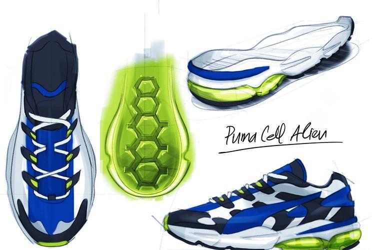 Puma Cell Alien OG, sepatu rancangan Raka Gemma Maulid