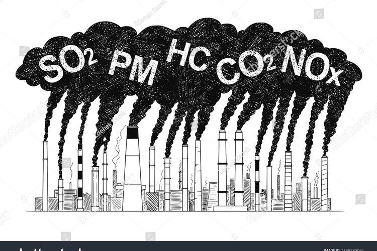 Ilustrasi pencemaran udara