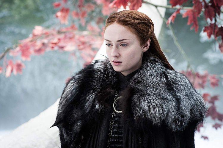 Sophie Turner, aktris pemeran Sansa Stark dalam Game of Thrones.