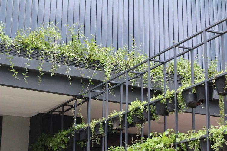 Taman vertikal di proyek Ravelle karya Matheuss Adriano Bintoro