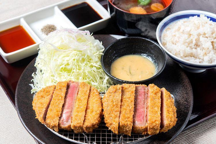 Set menu Beef Tongue Katsu Negimiso