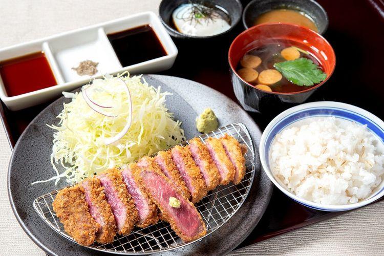 Set menu Aka Beef Sirloin Katsu