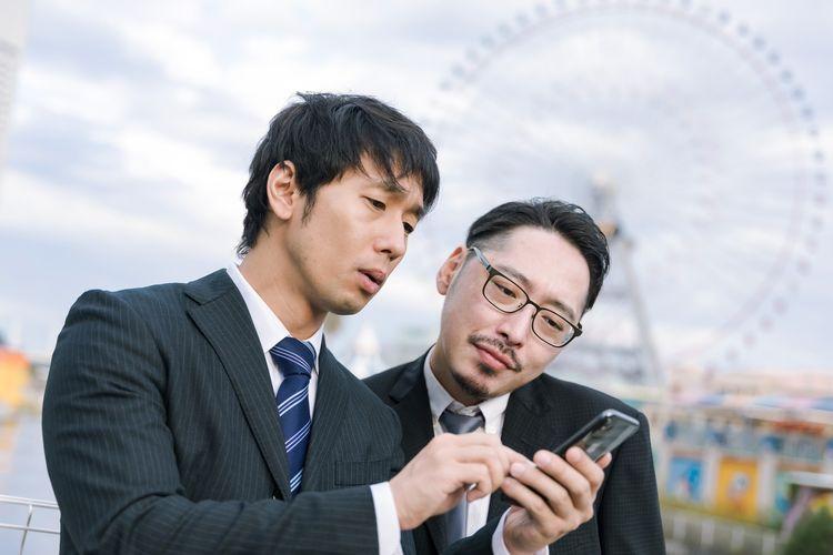 Ilustrasi mencari alamat di Jepang.