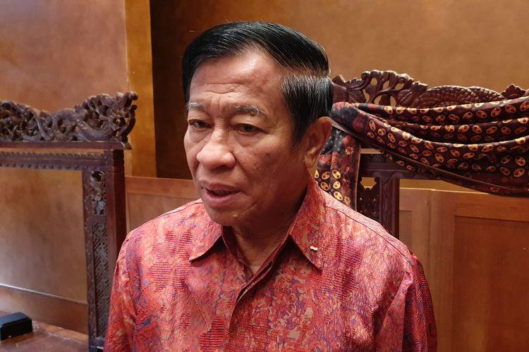 Agum Gumelar menghadiri halal bihalal purnawirawan di Jakarta, Jumat (21/6/2019)