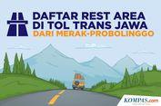 INFOGRAFIK: Daftar 'Rest Area' Tol Trans Jawa dari Merak-Probolinggo