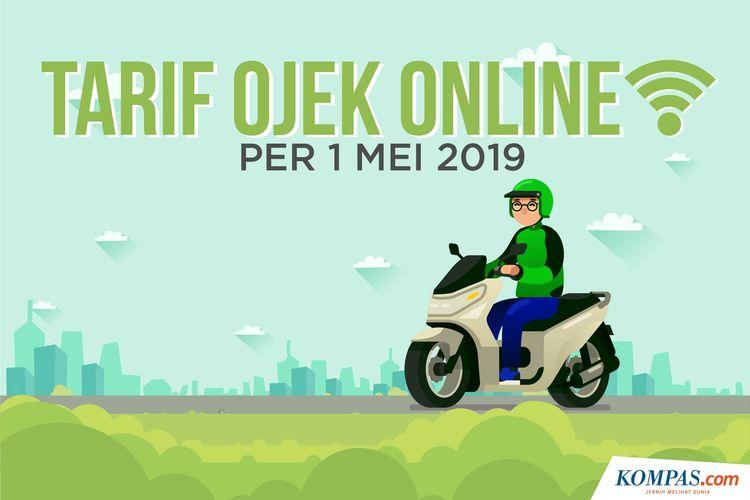 Tarif Ojek Online per 1 Mei 2019