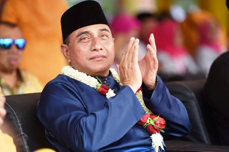 Edy Rahmayadi berharap di masa kepemimpinannya bisa berkontribusi untuk Sumatera Utara seperti para pendahulunya, Selasa (16/4/2019)
