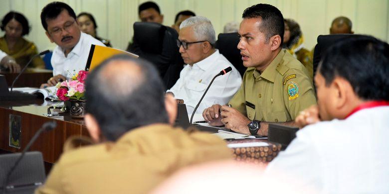Wagub Sumut Musa Rajekshah saat menghadiri rapat koordinasi bersama BBPJN untuk mengkaji pemantapan infrastruktur jalan di Sumut, Selasa (14/5/2019)
