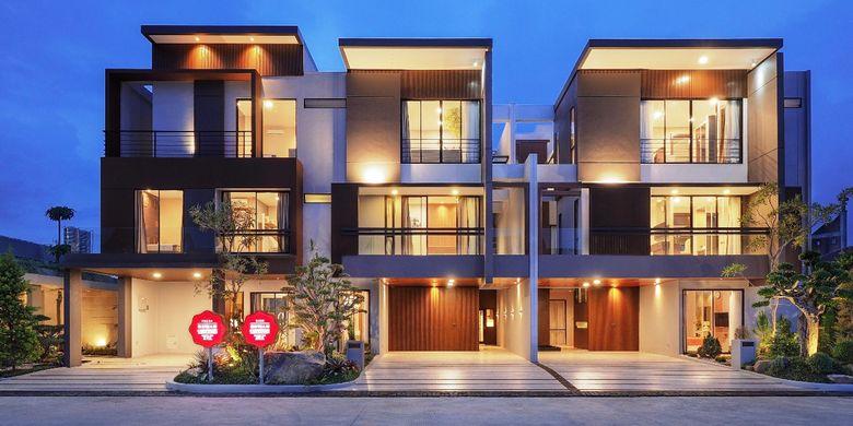Salah satu tipe rumah yang dibandrol mulai harga Rp 300 jutaan sampai miliaran oleh  Wiraland Property Group, Jumat (29/3/2019)