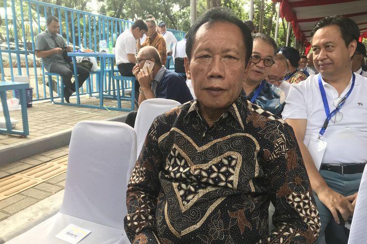 Mantan Gubernur DKI Jakarta Sutiyoso menghadiri peresmian Moda Raya Terpadu (MRT), Minggu (24/3/2019).