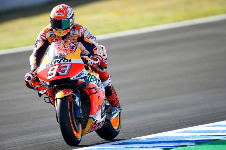 Marc Marquez waspadai Ducati dan Yamaha ada di baris terdepan saat balapan.