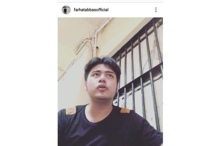 Tangkapan layar instagram Farhat Abbas.
