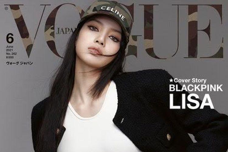Lisa Blackpink tampil pada sampul Vogue Jepang edisi Juni 2021.