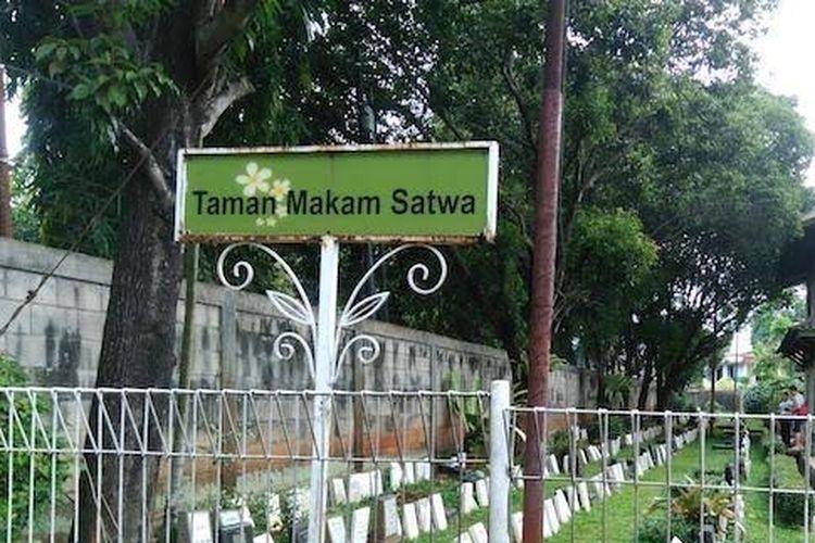 Taman Makam Satwa di Pondok Pengayom Satwa, Ragunan, Jakarta Selatan.