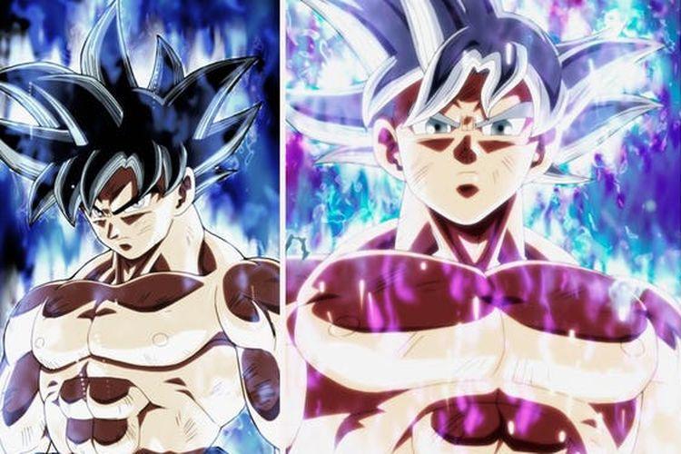 Transformasi Ultra Instinct Goku dalam Dragon Ball Super.