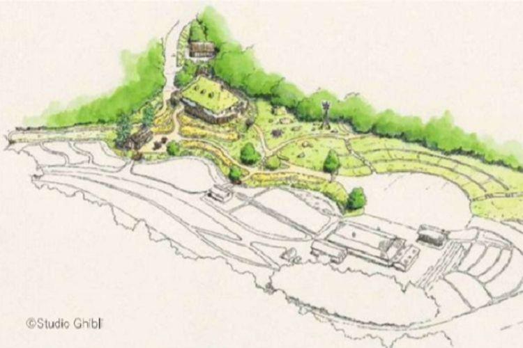 Desain untuk Desa Mononoke dan Irontown.