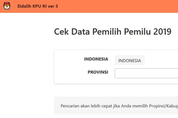 Bidik layar https://sidalih3.kpu.go.id