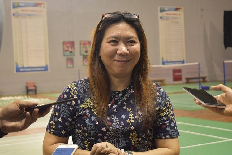 Kabid Binpres PP PBSI, Susy Susanti saat ditemui awak media di PP PBSI, Selasa (16/4/2019).
