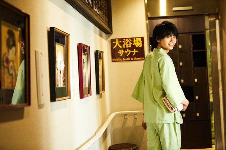 Ilustrasi mencoba sauna di Jepang.