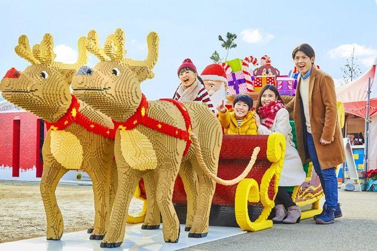 Legoland Jepang dengan suasana Natal.