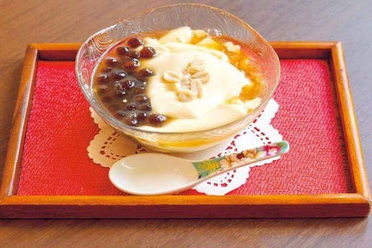 Toufa (600 yen). Tapioca topping adalah 50 yen.