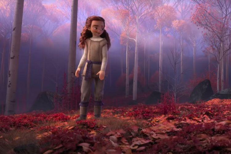 Salah satu karakter baru dalam film Frozen 2 yang terlihat dalam trailernya, Rabu (13/2/2019).