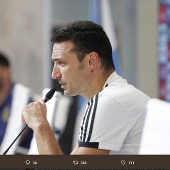 Pelatih timnas Argentina, Lionel Scaloni.