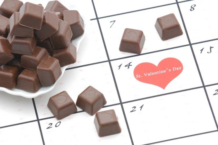 cokelat valentine.