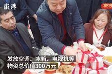 Miliarder China Bagi-bagi Duit dan Tumpangan Helikopter untuk Warga Kampungnya