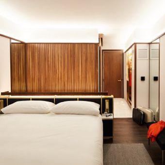 Di setiap dinding kamar dirancang dengan ketebalan 11,43 sentimeter.