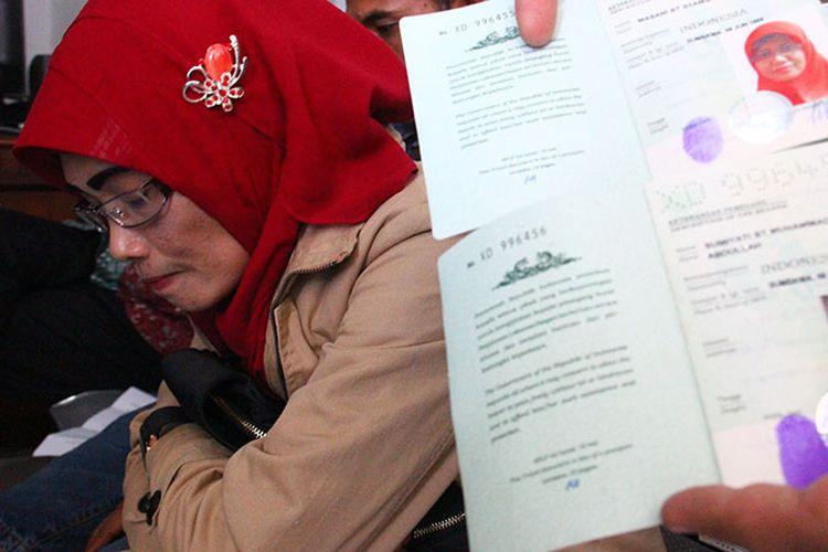 Sumiati, TKW yang bebas dari hukuman mati di Riyadh, Arab Saudi.