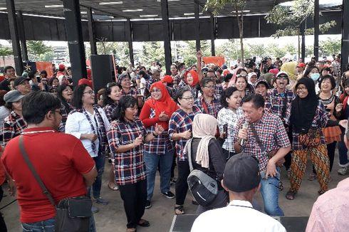 Berkumpul di RTH Kalijodo, Pendukung Ahok Bernyanyi Bersama