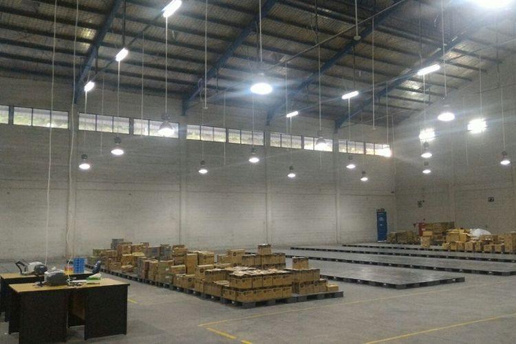 Warehouse Blibli.com yang diklaim sebagai salah satu warehouse e-commerce terbesar di Asia Tenggara