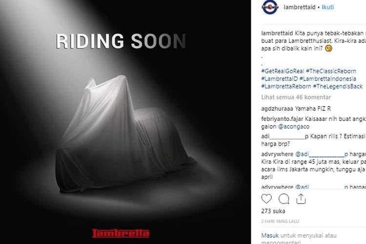 Lambretta mulai tampilkan video produknya yang diduga bakal di luncurkan di Indonesia