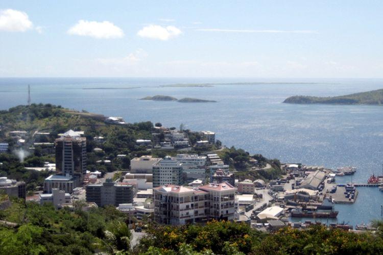 Salah satu sudut kota Port Moresby, Papua Niugini.