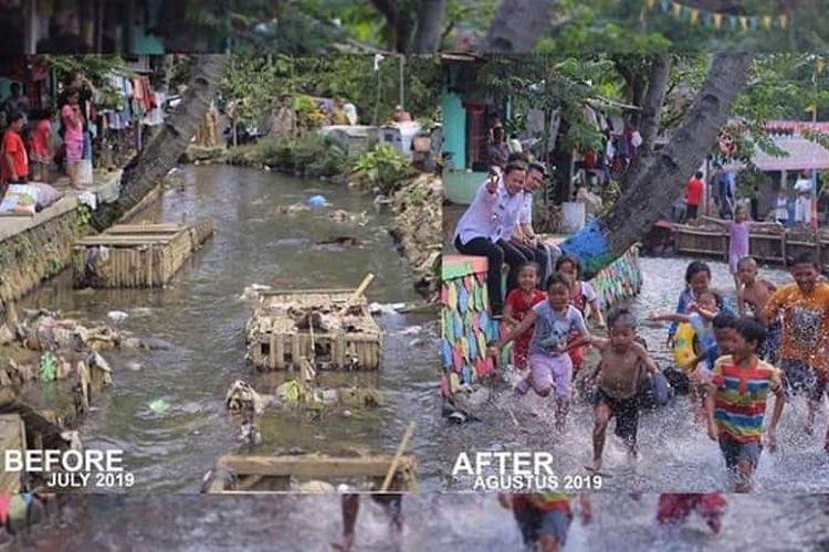 Kondisi sungai di Kelurahan Bantarjati, Kota Bogor.