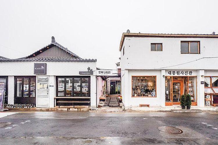 Jalan Hwangnidan-gil di Gyeongju, Korea Selatan