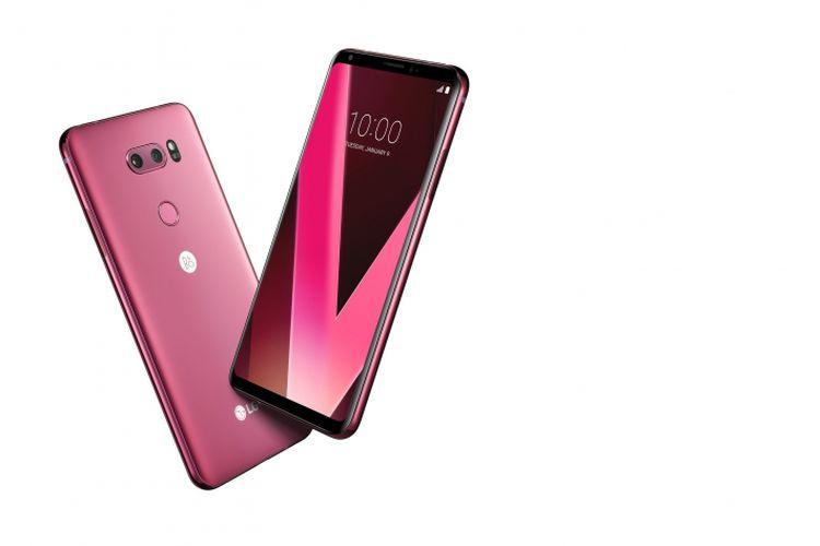 LG V30 Varian Raspberry Rose resmi dijual di JD.ID mulai 15-28 Februari 2018.