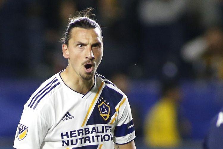 Penyerang LA Galaxy, Zlatan Ibrahimovic.