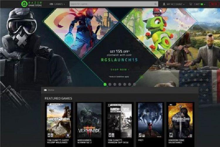 Tampilan toko game online Razer Game Store